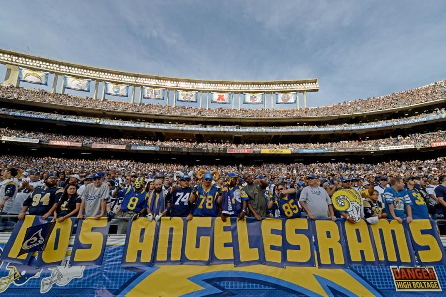 The Rams return to their Los Angeles home after over 20 years in St. Louis