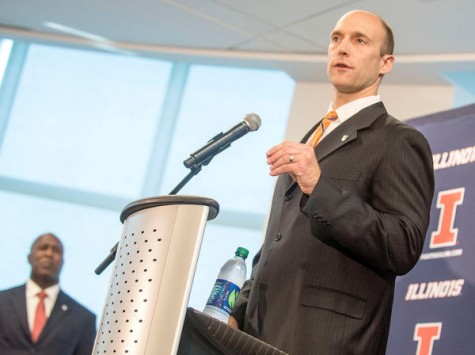 Josh Whitman, the new AD, introduces Lovie Smith as Illinois' new head football coach