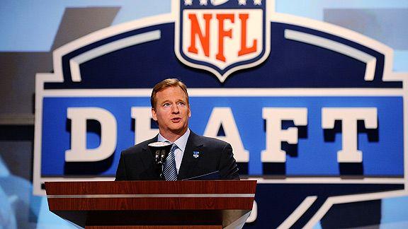 Roger Goodell will start announcing picks at 7 p.m. Thursday when the NFL Draft kicks off.