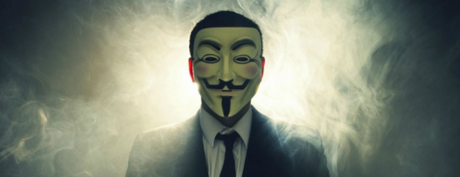 The masks used by Anonymous to hide Identity during films.