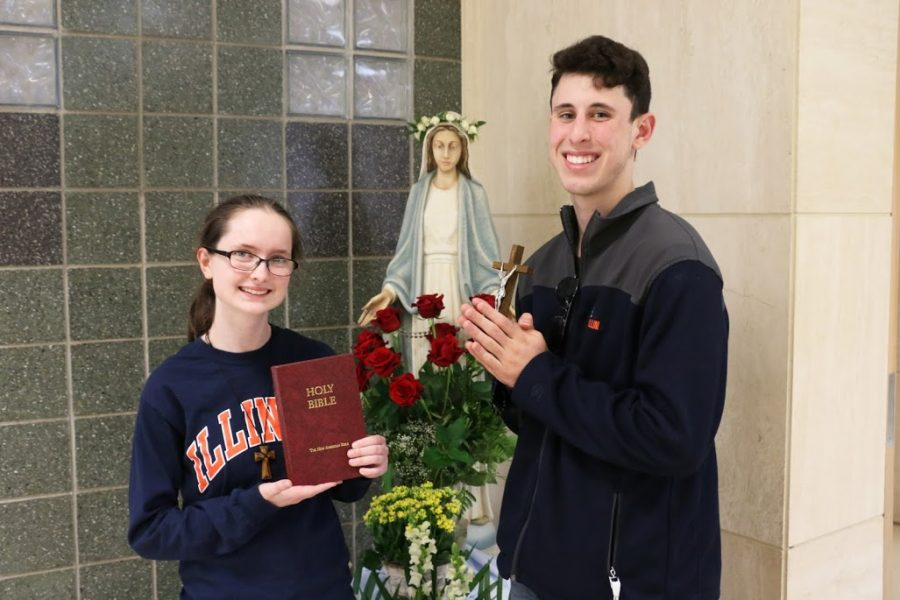 Most likely to be a priest/nun: Tess Schuck and Eric Parks
