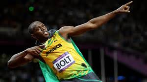 Bolt's once again was able to do his signature pose after another three gold medals in Rio.