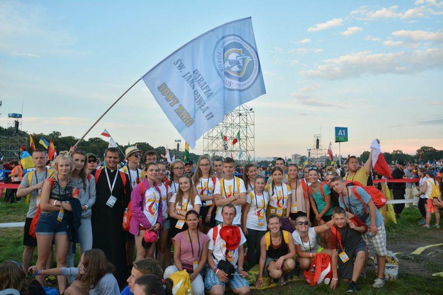 All of my group gathered at WYD.