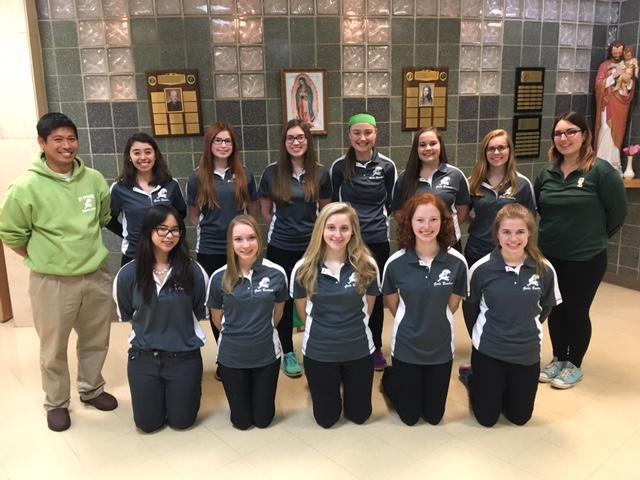 The 2017 St. Edward girls bowling team