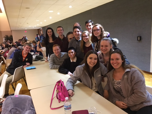 WYSE+students+wait+to+hear+the+results+of+the+sectionals+competition+at+NIU.