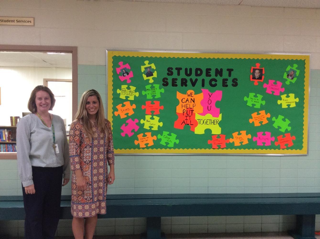 The new counselors, Mrs. Frasor (Left) and Mrs. Szimski (right)
