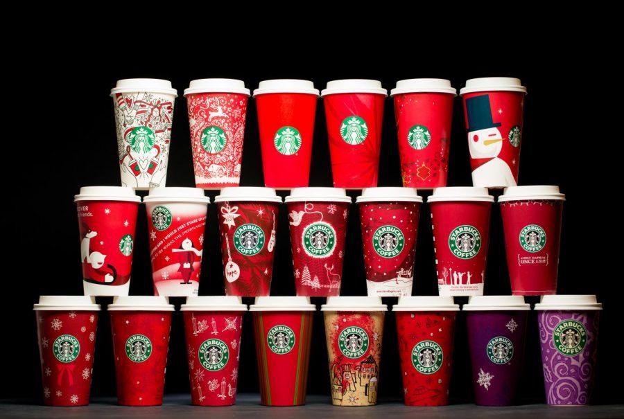 20 Years of Starbucks Christmas cups.
