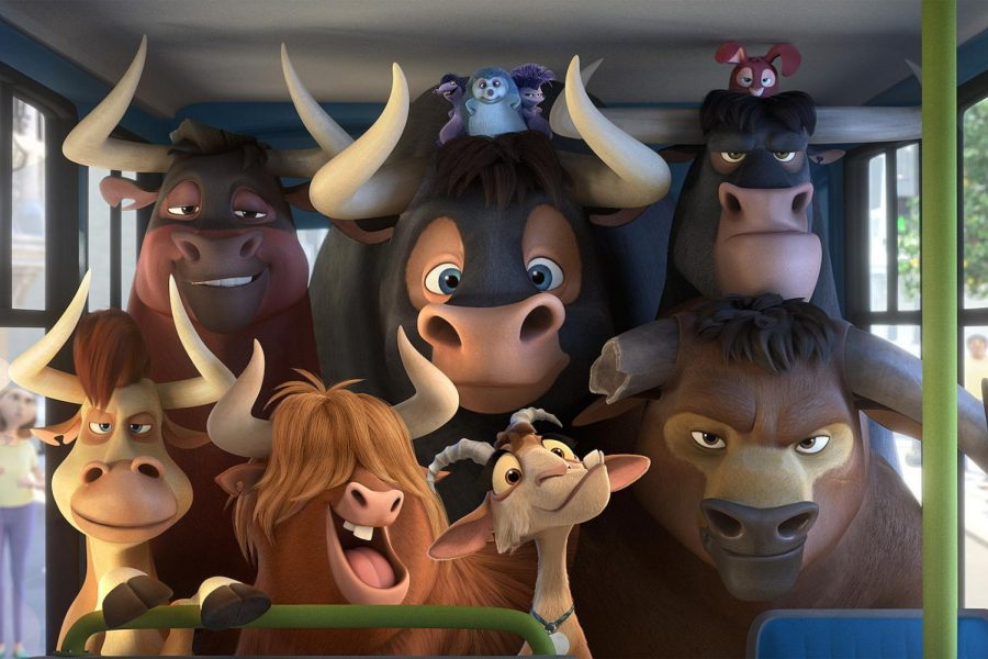 The animal cast of Ferdinand.