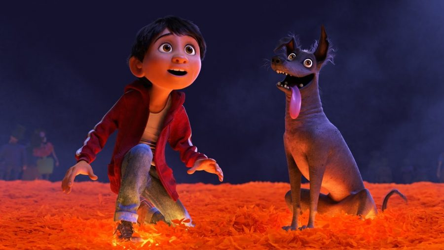 Miguel and his loyal dog, Dante.