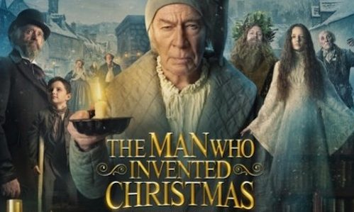 The characters of The Man Who Invented Christmas.