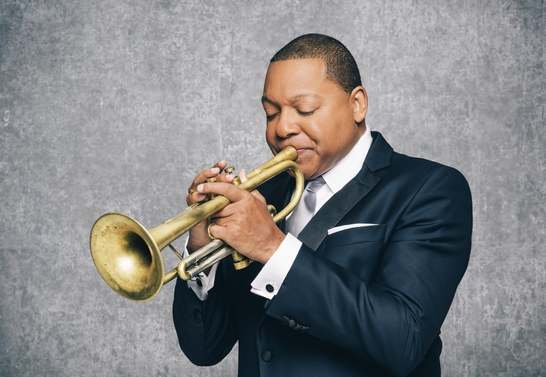 Wyton Marsalis with his famed trumpet.