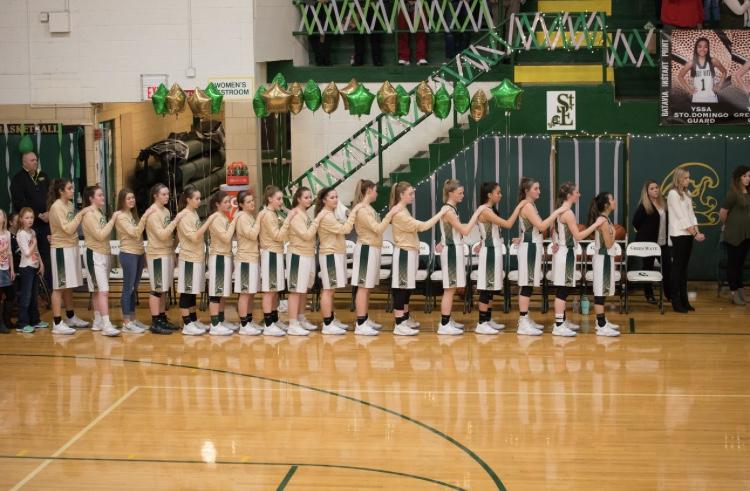 The Lady Wave Girl's Varsity Basketball Team.