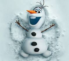 Olaf the Snowman showing us how much fun the winter is!