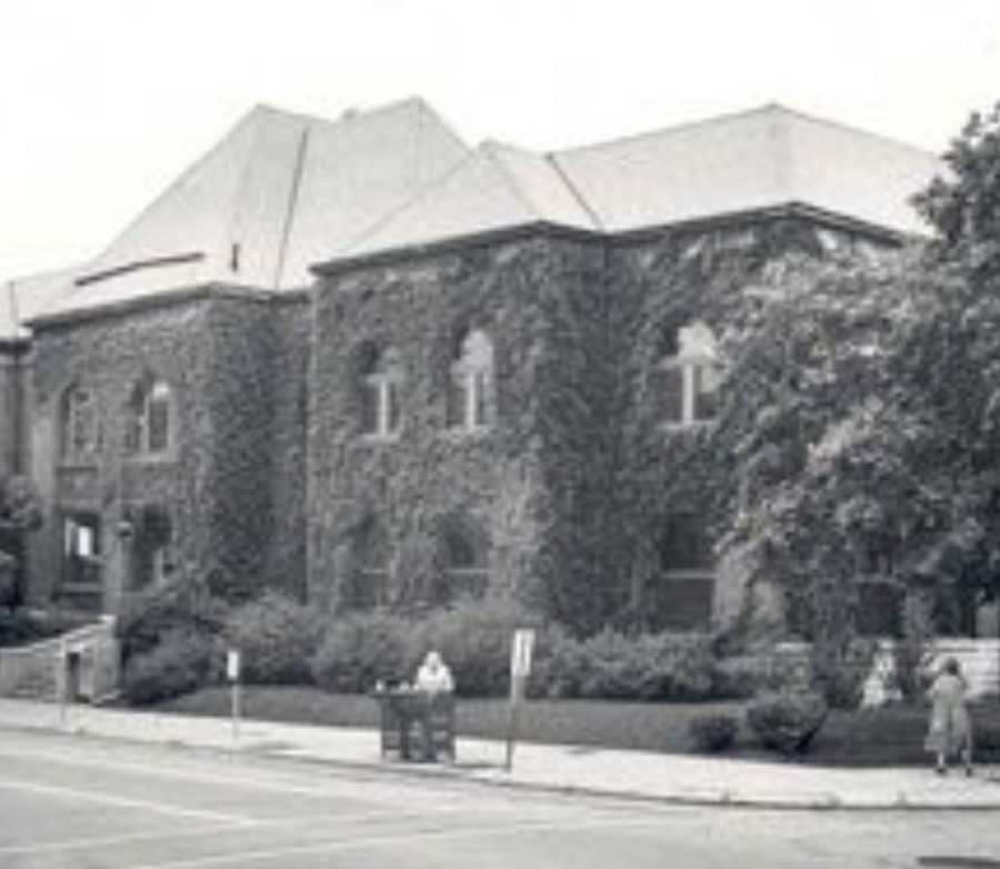 The original Gail Borden Library which was originally the mansion of Mr. Gail Borden.