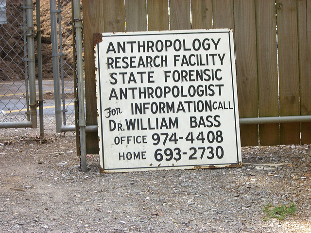This is the anthropology research facility for the state and it's used by forensic scientists.