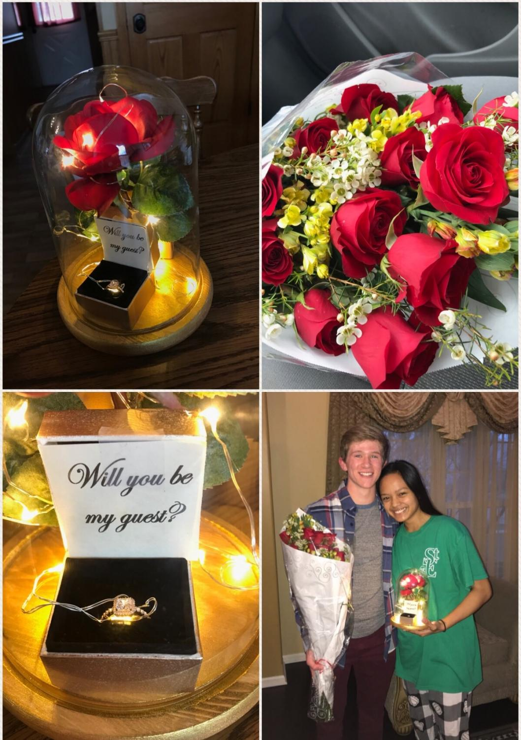 Promposal2018: Junior Zachary Olenek and senior Lourdes Galido