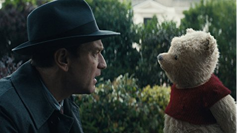 Christopher Robin sees Winnie the Pooh.