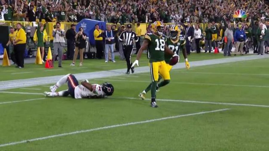 Randall+Cobb+celebrates+in+the+endzone+after+catching+the+game+winning+TD