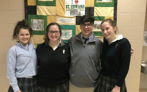 (Left) Madalynn Duffy, Megan Pease, Tom Reeder, Erin Kremer