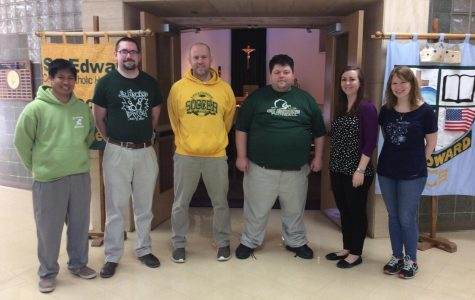 (from left) Mr. Anastacio, Mr. Snow, Mr. Brieger, Mr. Briski, Ms. Rodman, Mrs. Schmidt