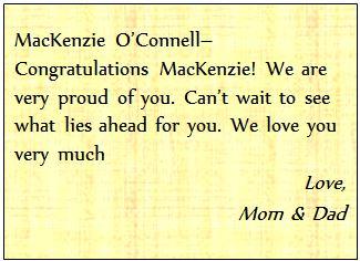 o'connell, MacKenzie redo