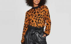 Women's Leopard Print Crewneck Pullover Sweater - Who What Wear; Available on Target.com