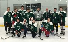The hockey team after their scrimmage