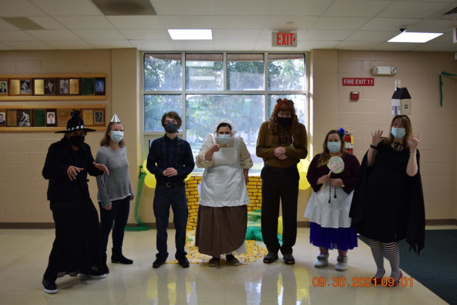 The teachers of senior hall all dress as Wizard of Oz characters.